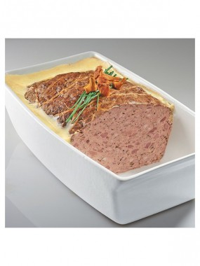 Terrine de foie gras de canard aux girolles